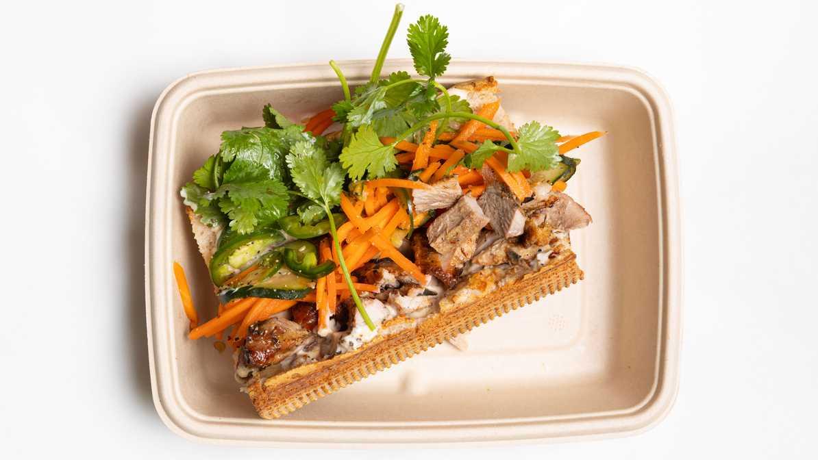 Lemongrass Pork Banh Mi Sandwich