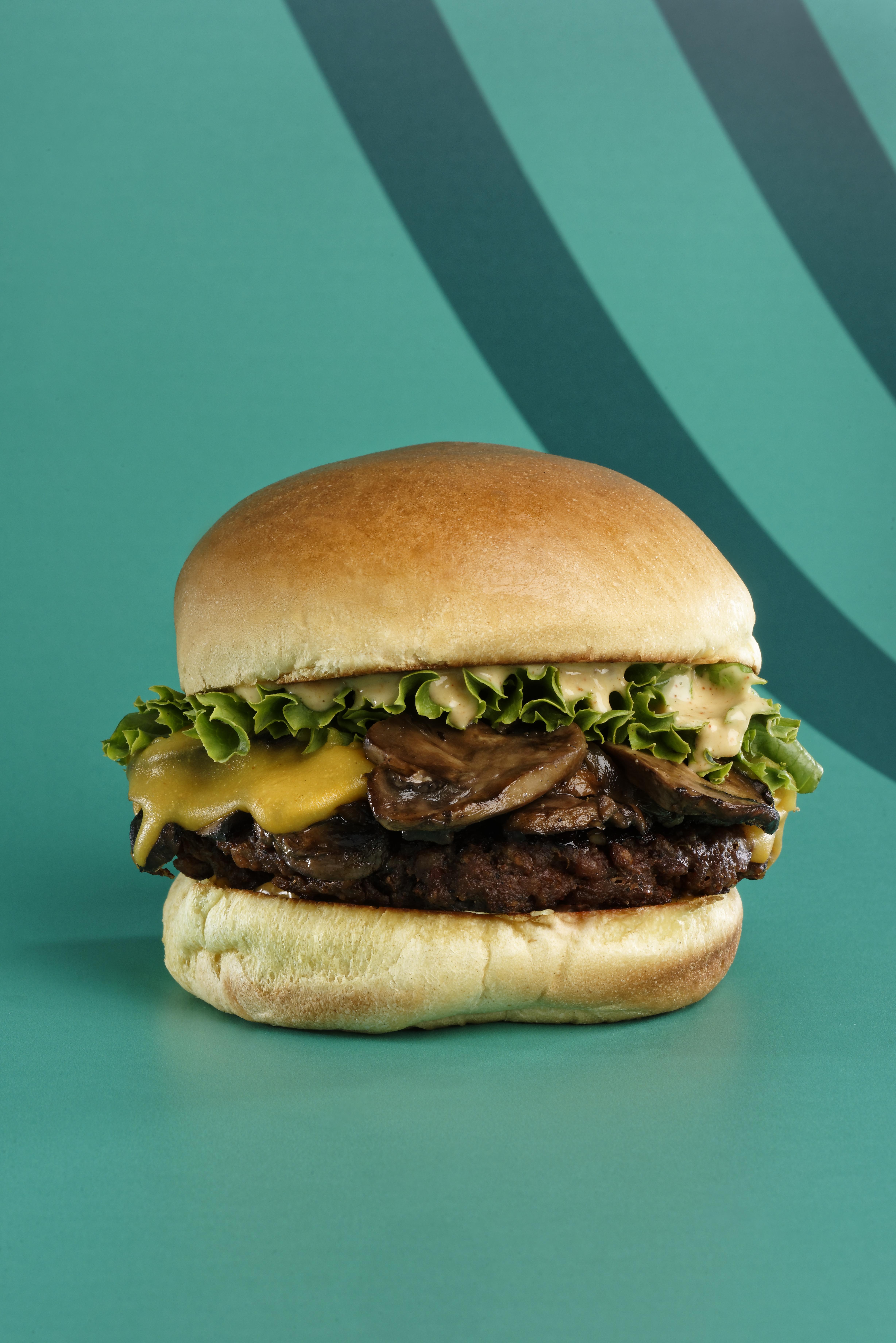 Creamy Mushroom Burger